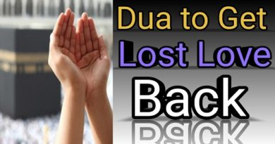 Dua For Getting Lost Love Back